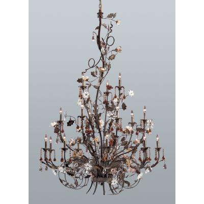 Elk Lighting 85004 Cristallo Fiore - Eighteen Light Chandelier