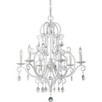 Feiss F1902/6SGW Chateau Blanc - Six Light Chandelier