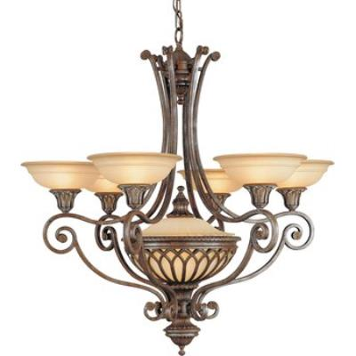 Feiss F1919/6+1BRB 7 Light Chandelier