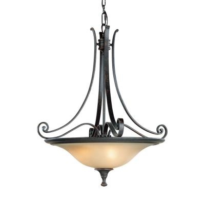 Feiss F1931/3LBR Uplight Pendant