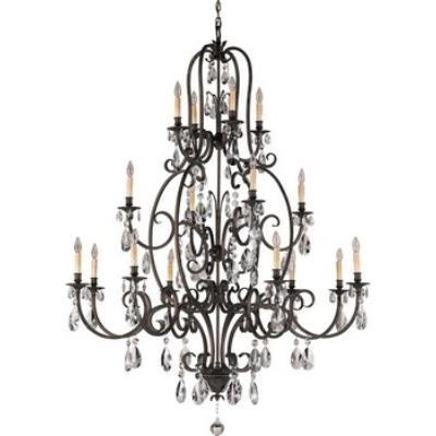 Feiss F2230/8+4+4ATS Salon Ma Maison Collection Chandelier - 3 Tiers