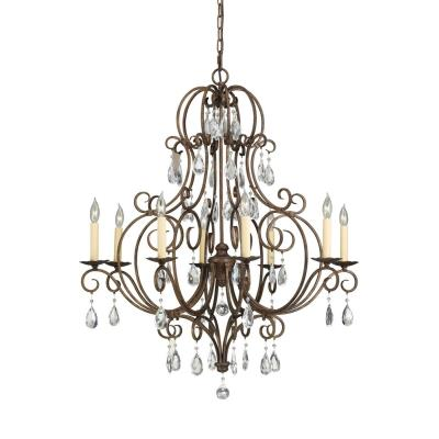 Feiss F2303/8MBZ Chateau Collection8-Light Chandelier