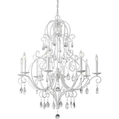 Feiss F2303/8SGW Chateau Blanc - Eight Light Chandelier