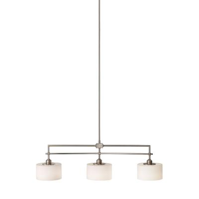 Feiss F2402/3BS Sunset Drive - Three Light Billiard Chandelier