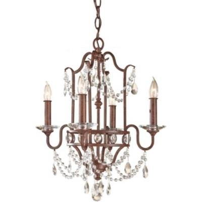 Feiss F2476/4MBZ Gianna Scuro - Four Light Mini Duo Chandelier