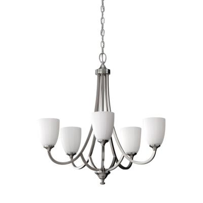 Feiss F2584/5BS Perry - Five Light Chandelier