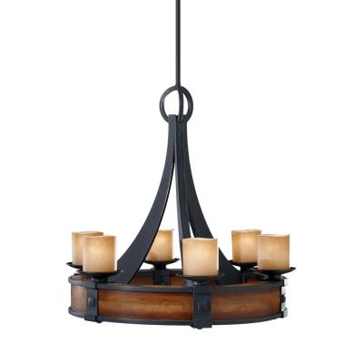 Feiss F2591/6AF/AGW Madera - Six Light Chandelier