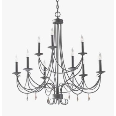 Feiss F2748/6+3RI Aliya - Nine Light 2-Tier Chandelier
