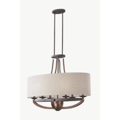 Feiss F2751/6RI/BWD Adan - Six Light Chandelier