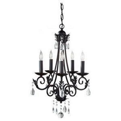 Feiss F2758/5BK Nadia - Five Light Chandelier