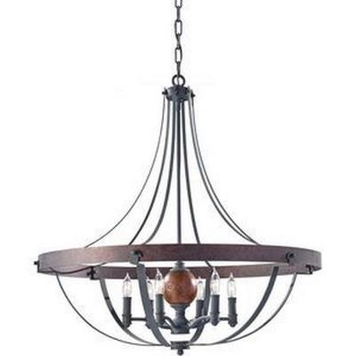 Feiss F2796/6AF/CBA Alston - Six Light Chandelier