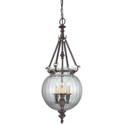 Feiss F2800/3ORB Luminary - Three Light Hall Chandelier