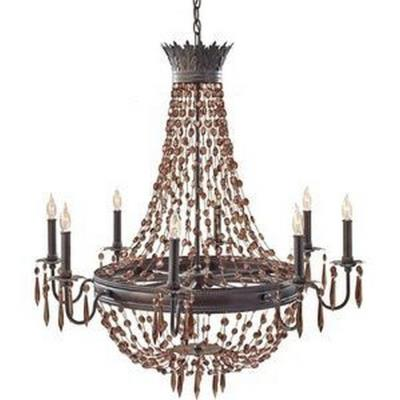 Feiss F2803/8RI Marcia - Eight Light Chandelier