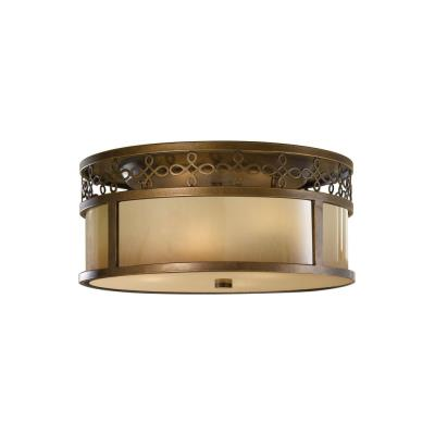 Feiss FM337ASTB Justine - Three Light Flush Mount