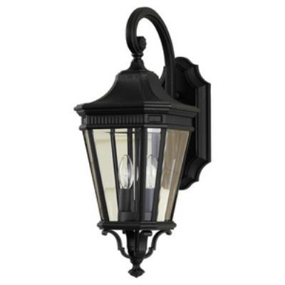 Feiss OL5401BK Cotswold Lane - Two Light Outdoor Wall Lantern