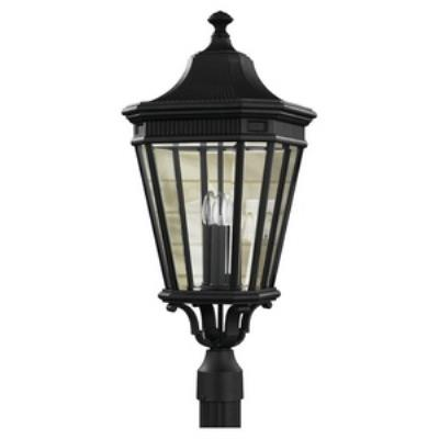 Feiss OL5408BK Cotswold Lane - Three Light Outdoor Post Mount