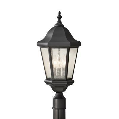 Feiss OL5907BK Martinsville - Three Light Outdoor Post Mount