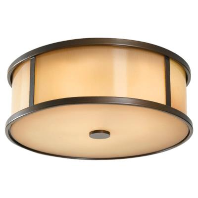 Feiss OL7613HTBZ Dakota - Three Light Outdoor Flush Mount