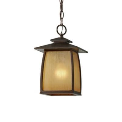 Feiss OL8511SBR Wright House - One Light Outdoor Hanging Lantern