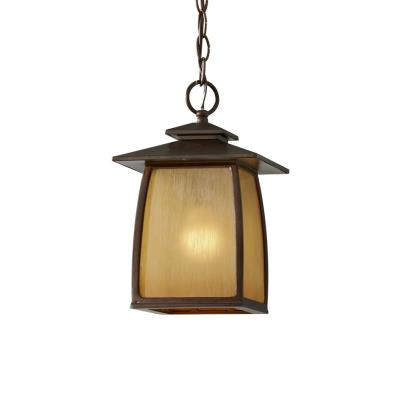 Feiss OL8511SBR Wright House - One Light Outdoor Hanging Lantern