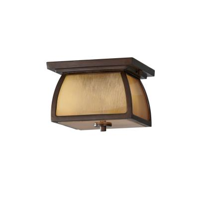 Feiss OL8513SBR Wright House - Two Light Outdoor Flush Mount