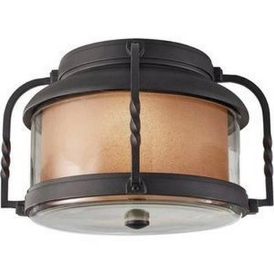 Feiss OL9213TXB Menlo Park - Two Light Outdoor Flush Mount