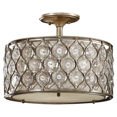 Feiss SF289BUS Lucia - Three Light Semi-Flush Mount