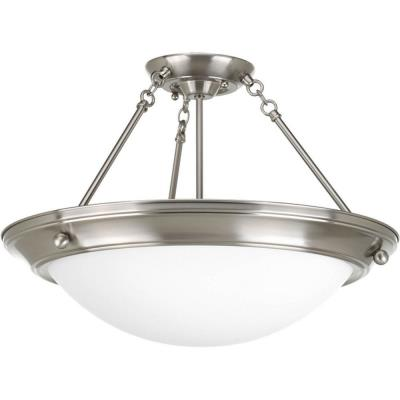 Progress Lighting P3570-09EB Eclipse - Three Light Semi-Flush Mount