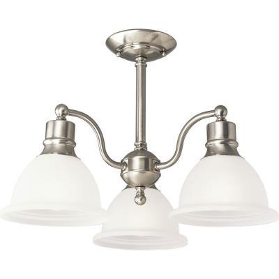 Progress Lighting P3663-09 Three-Light Semi-Flush Close-To-Ceiling Fixture