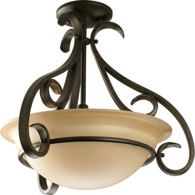 Progress Lighting P3843-77 Torino - Three Light Convertible Semi-Flush Mount