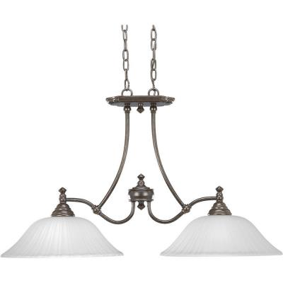 Progress Lighting P4113-77 Two-Light Linear Chandelier Fixture