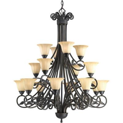 Progress Lighting P4147-84 Sixteen-Light, Three Tier Chandelier Fixture - Chandelier