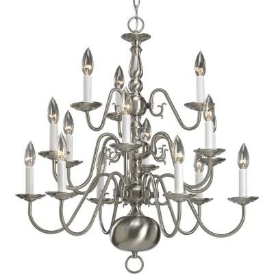 Progress Lighting P4359-09 Fifteen-Light, Three-Tier Chandelier Fixture - Chandelier