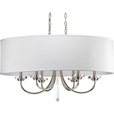 Progress Lighting P4431-104 Nisse - Six Light Oval Chandelier - Chandelier