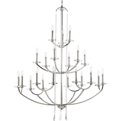 Progress Lighting P4630-104 Nisse - Twenty One Light 3-Tier Chandelier