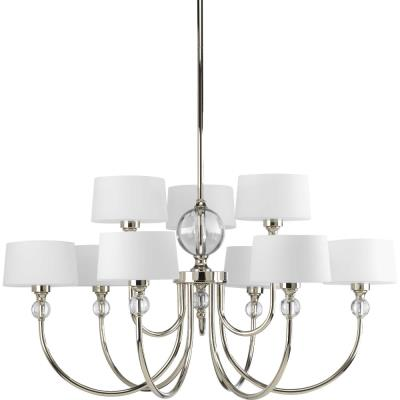 Progress Lighting P4675-104 Fortune - Nine Light 2-Tier Chandelier