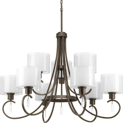 Progress Lighting P4697-20 Invite - Nine Light 2-Tier Chandelier
