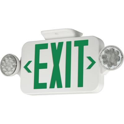 Progress Lighting PE011-30 Exit Sign with Green Colored Letters