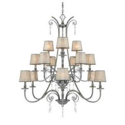 Quoizel Lighting KD5015MM Kendra - Fifteen Light Three Tier Chandelier