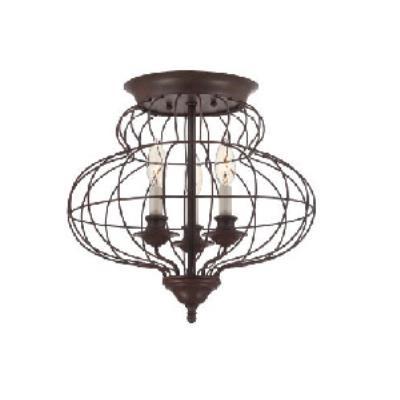 Quoizel Lighting LLA1615RA Laila - Three Light Semi-Flush Mount