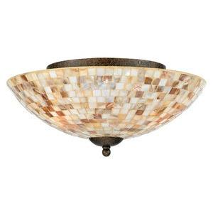 Monterey Mosaic - Three Light Flush Mount
