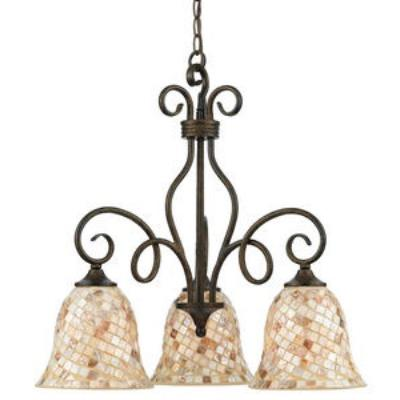 Quoizel Lighting MY5103ML Monterey Mosaic - Three Light Chandelier