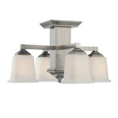 Quoizel Lighting QF1213SBN Norwood - Four Light Semi-Flush Mount