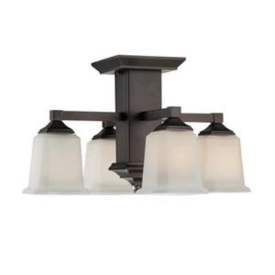 Quoizel Lighting QF1213SHO Norwood - Four Light Semi-Flush Mount