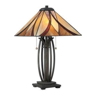 Quoizel Lighting TF1180TVA Asheville Tiffany - Two Light Table Lamp