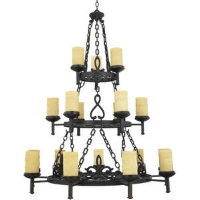 Quoizel Lighting LP5018IB La Parra - Eighteen Light Three Tier Chandelier