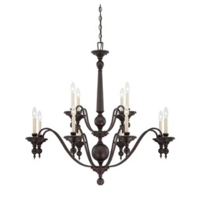 Savoy House 1-1728-12-13 Sutton Place - Twelve Light Chandelier