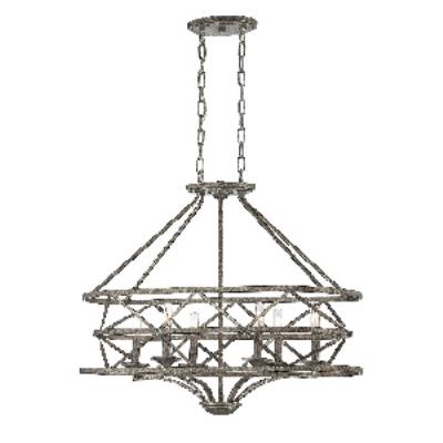 Savoy House 1-9121-6-285 Rail - Six Light Oval Chandelier