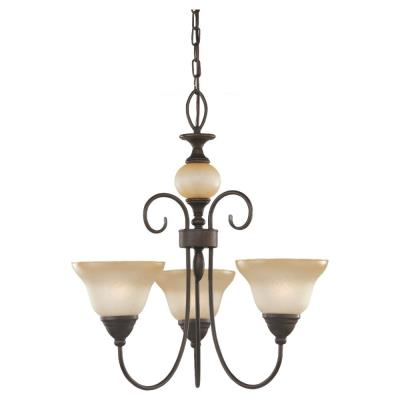 Sea Gull Lighting 31105-72 Three-Light Montclaire Chandelier