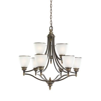Sea Gull Lighting 31351-708 Laurel Leaf - Nine Light Chandelier